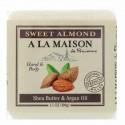 A La Maison de Provence, ハンド&ボディ・バーソープ(固形石けん)、スイートアーモンド、3.5オンス(100 g) (Discontinued Item)