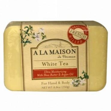 A La Maison de Provence, ハンド&ボディ固形石鹸、ホワイトティー、8.8オンス(250 g) (Discontinued Item)