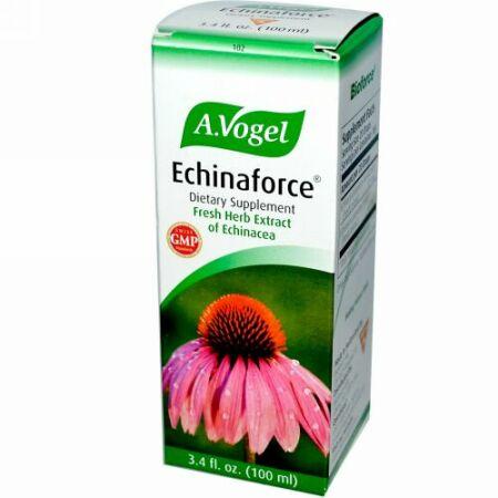 A Vogel, Echinaforce、エキナセアのフレッシュハーブ・エキス、 3.4 液量オンス (100 ml) (Discontinued Item)