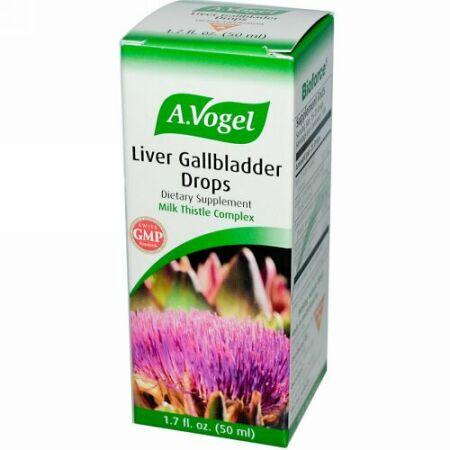 A Vogel, 肝臓、胆のう用ドロップ、 1.7液量オンス (50 ml)
