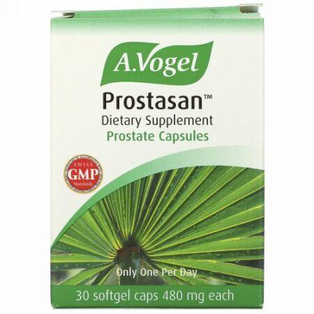 A Vogel, Prostasan™, プロステート カプセル, 480 mg, 30 ソフトジェルカプセル