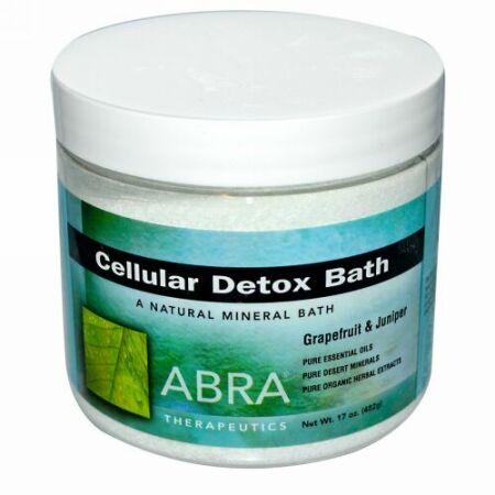 Abra Therapeutics, セルラーデトックスバス、グレープフルーツ & ジュニパー、17 oz (482 g) (Discontinued Item)