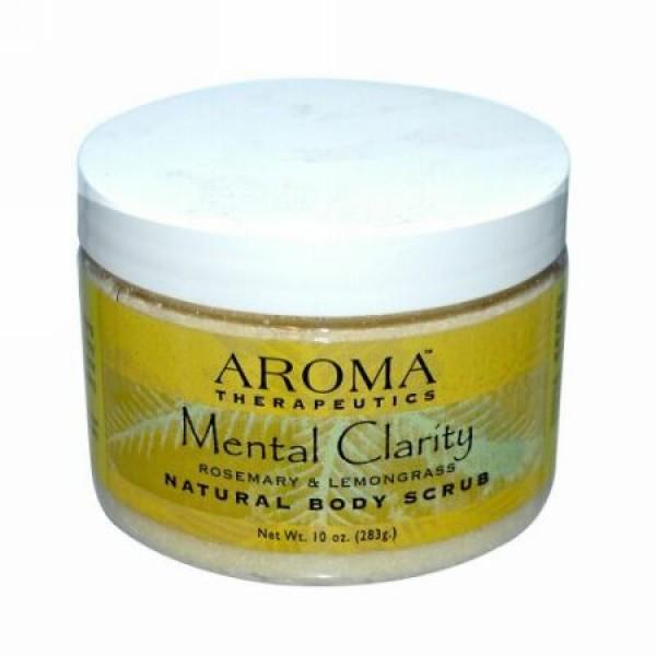 Abra Therapeutics, ナチュラルボディースクラブ、メンタルクラリティ―、ローズマリー & レモングラス、10 oz (283 g) (Discontinued Item)