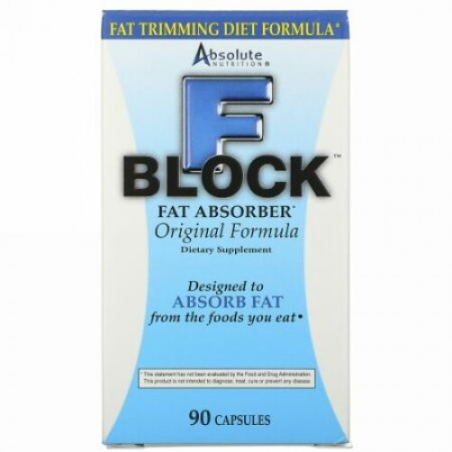 Absolute Nutrition, Fブロック、ファットアブゾーバー、 90カプセル