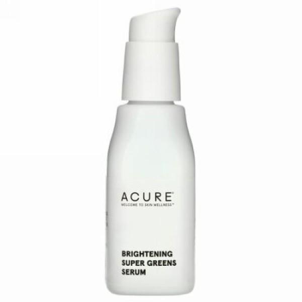 Acure, 肌の輝き、スーパーグリーンズセラム、1 fl oz (30 ml) (Discontinued Item)