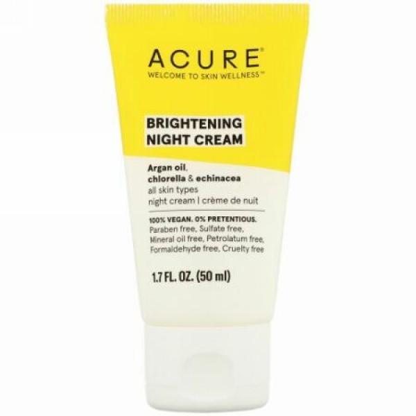 Acure, ブライトニングナイトクリーム、50ml(1.7液量オンス)