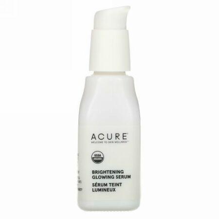 Acure, 鮮やかな輝き、グロウイングセラム、1 fl oz (30 ml)
