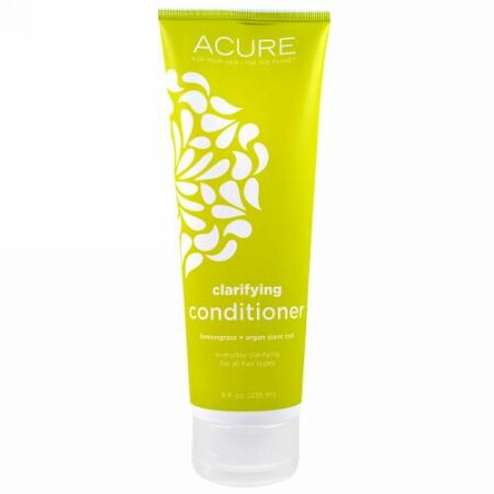 Acure, Clarifying Conditioner、レモングラス + アルガンの幹細胞、8液量オンス(235 ml) (Discontinued Item)