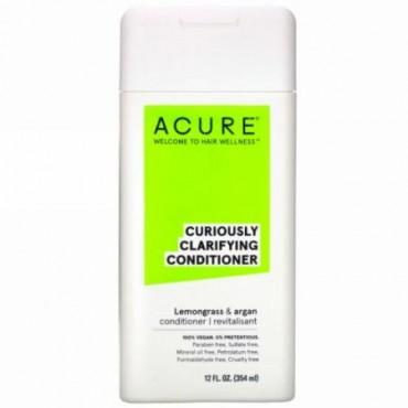 Acure, キュリアスリー・クラリファイイング・コンディショナー、レモングラス&アルガン、12 fl oz (354 ml) (Discontinued Item)