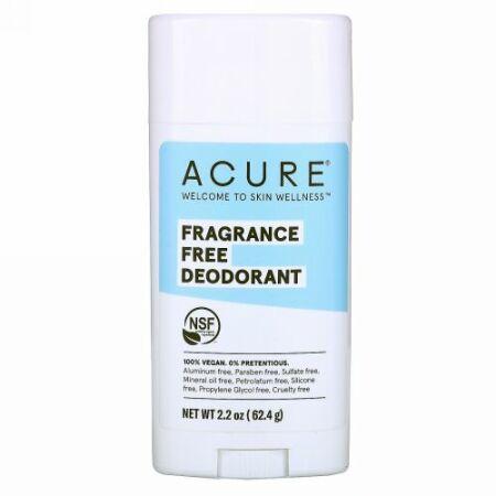 Acure, デオドランド、無香料、63.78 g(2.25 oz)