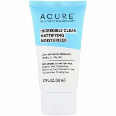 Acure, インクレディブルクリア、テカリ抑制保湿剤、1.7 fl oz (50 ml)