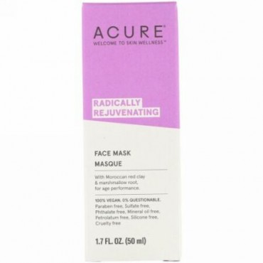 Acure, Radically Rejuvenating, Face Mask, 1.7 fl oz (50 ml) (Discontinued Item)