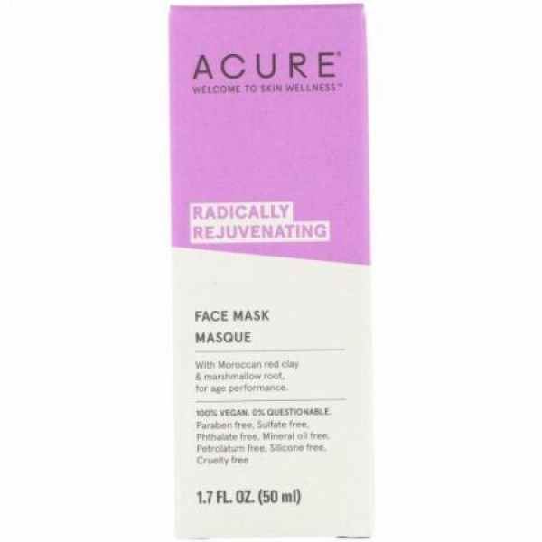Acure, Radically Rejuvenating, Face Mask, 1.7 fl oz (50 ml) (Discontinued Item)