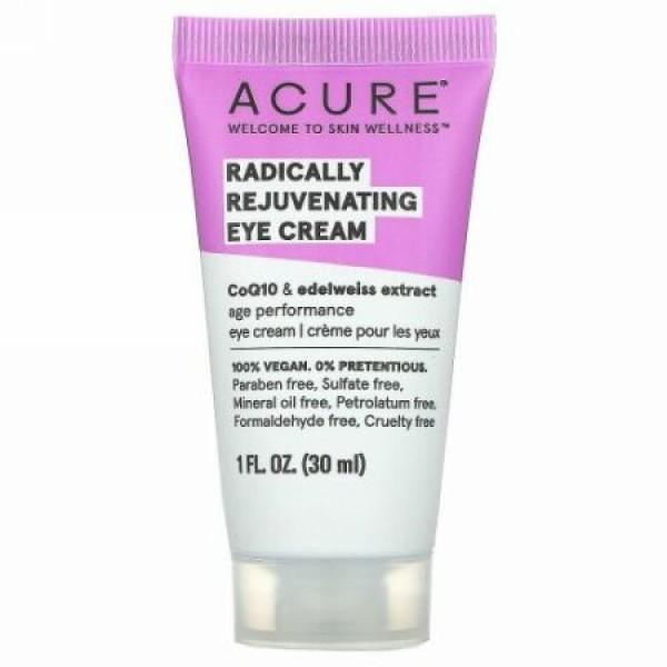 Acure, アイクリーム, クロレラ + エーデルワイス幹細胞, 1 液量オンス (30 ml)