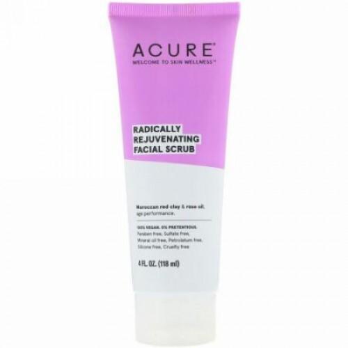 Acure, Radically Rejuvenating Facial Scrub, 4 fl oz (118 ml)