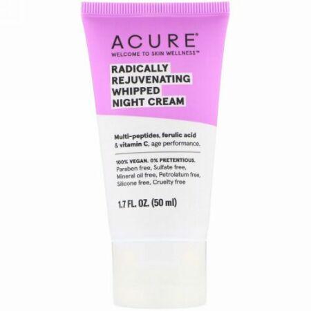 Acure, ラジカリー・リジュビネイティング(根本から若返る)ホイップナイトクリーム、50ml(1.7fl oz)
