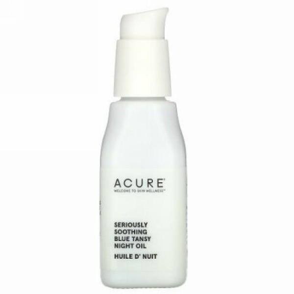 Acure, シリアスリースージング、青ヨモギナイトオイル、1液量オンス (30 ml)