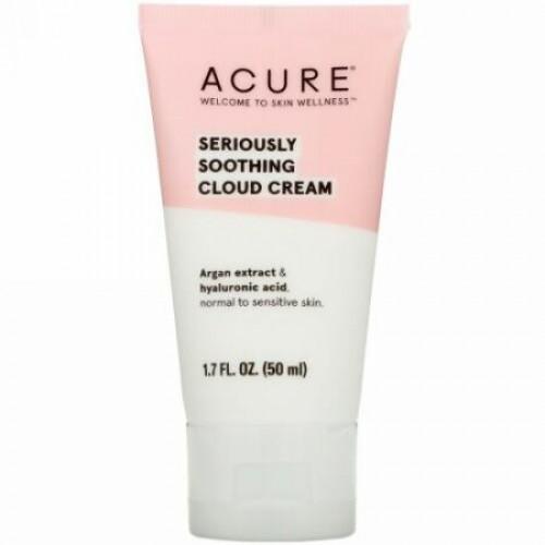 Acure, シリアスリースムージングクラウドクリーム、1.7液量オンス (50 ml)