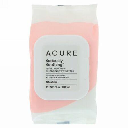 Acure, すごく癒されるミネラウォーター・クレンジングタオレット、タオレット30枚 (Discontinued Item)