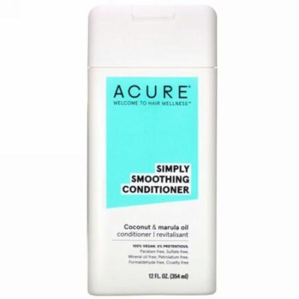 Acure, シンプリースムージングコンディショナー、ココナッツ&マルラオイル、354ml(12液量オンス) (Discontinued Item)