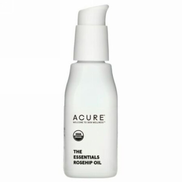 Acure, ジ・エッセンシャルズ、ローズヒップオイル、 1 fl oz (30 ml)
