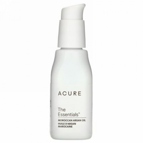 Acure, エッセンシャルズモロッカンアルガンオイル、30 ml