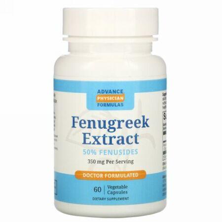 Advance Physician Formulas, フェヌグリークエキス、350 mg、60カプセル