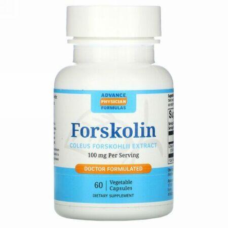 Advance Physician Formulas, フォルスコリン, コレウス・フォルスコリエキス,  100 mg, 60 カプセル