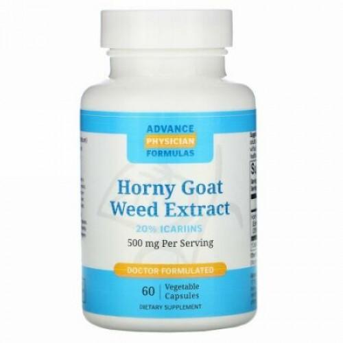 Advance Physician Formulas, ホーニー・ゴート・ウィード・エキス、500 mg、カプセル60 錠