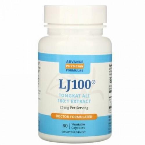 Advance Physician Formulas, LJ 100, 25 mg, 60 Vegetable Capsules
