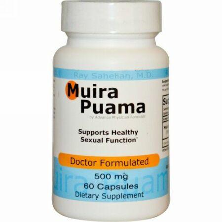 Advance Physician Formulas, ムイラプアマ、500 mg、60カプセル (Discontinued Item)
