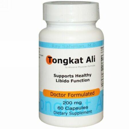 Advance Physician Formulas, トンガット・アリ、 200 mg、カプセル60錠