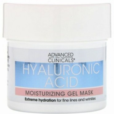 Advanced Clinicals, Hyaluronic Acid, Moisturizing Gel Mask, 5 fl oz (148 ml) (Discontinued Item)