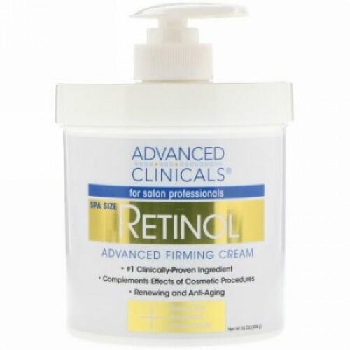 Advanced Clinicals, Retinol Advanced Firming Cream, 16 oz (454 g)