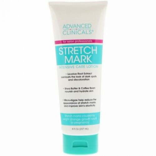 Advanced Clinicals, Stretch Mark Intensive Care Lotion, 8 fl oz (237 ml) (Discontinued Item)