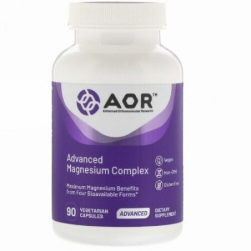 Advanced Orthomolecular Research AOR, Advanced Magnesium Complex(アドバンストマグネシウムコンプレックス)、植物性カプセル90粒
