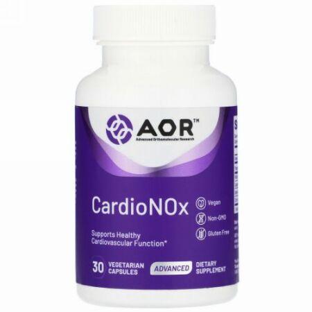 Advanced Orthomolecular Research AOR, Cardio Nox, 30 Vegetarian Capsules (Discontinued Item)