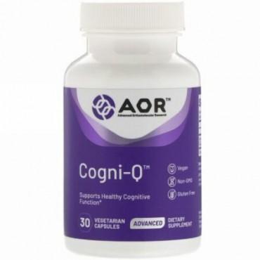 Advanced Orthomolecular Research AOR, コグニQ、植物性カプセル30錠 (Discontinued Item)