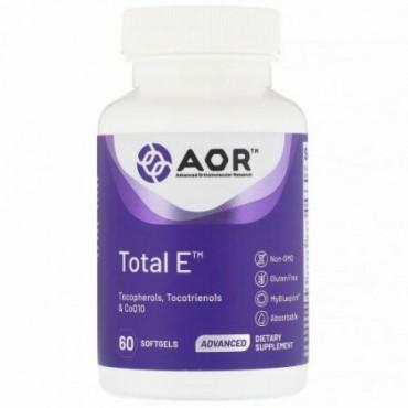 Advanced Orthomolecular Research AOR, Total E(トータルE)、ソフトジェル60粒