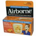 AirBorne, エアボーン, Effervescent Tablets,ゼスティーオレンジ, 10 タブレット