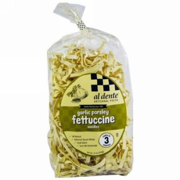 Al Dente Pasta, Garlic Parsley Fettuccine, 12 oz (341 g) (Discontinued Item)