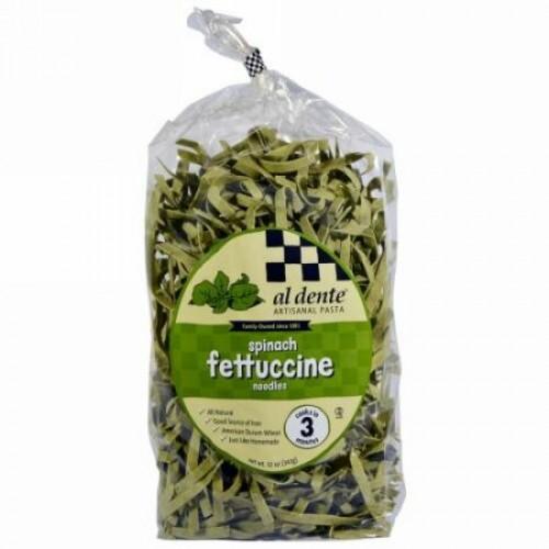 Al Dente Pasta, Spinach Fettuccine, 12 oz (341 g) (Discontinued Item)