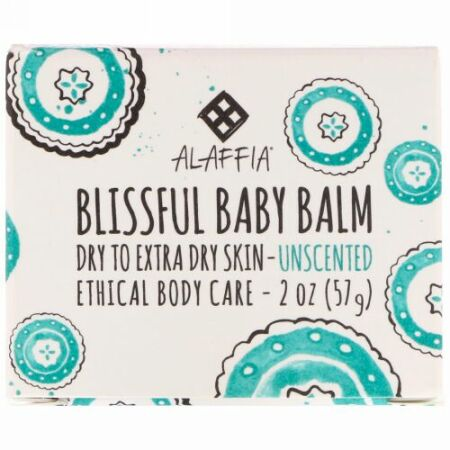 Alaffia, Blissful Baby Balm, Dry to Extra Dry Skin, Unscented, 2 oz (57 g) (Discontinued Item)