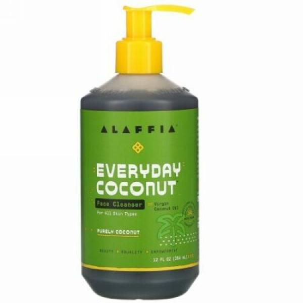 Alaffia, Everyday Coconut(エブリデイココナッツ)、顔用クレンザー 354ml(12液量オンス)