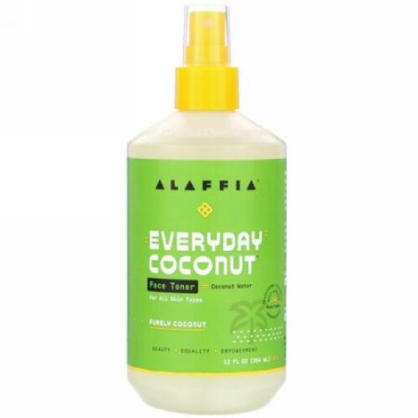 Alaffia, Everyday Coconut, Face Toner, Purely Coconut, 12 fl oz (354 ml)