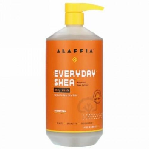 Alaffia, Moisturizing Body Wash, Unscented, 32 fl oz (950 ml)