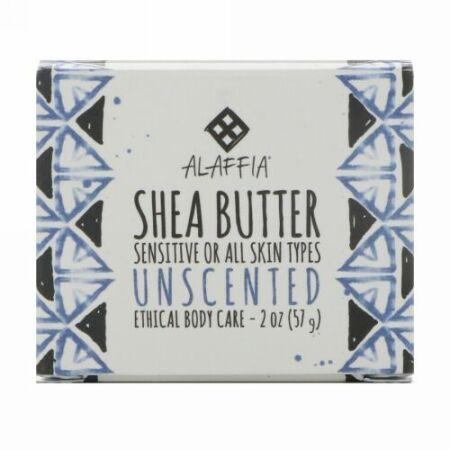 Alaffia, Shea Butter, Unscented, 2 oz (57 g) (Discontinued Item)