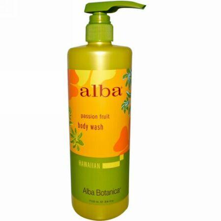 Alba Botanica, ボディーワッシュ、パッションフルーツ、24 オンス (710 ml) (Discontinued Item)