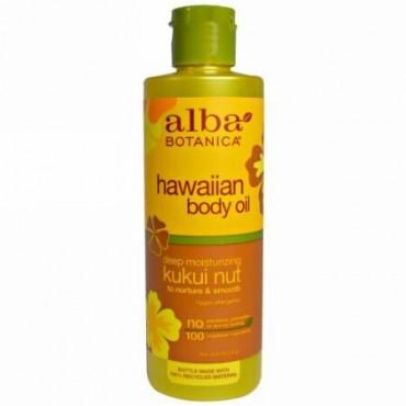 Alba Botanica, ハワイアンボディオイル、ククイナッツ、8.5 fl oz (251 ml)