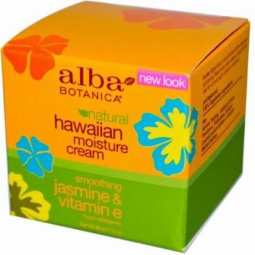 Alba Botanica, ハワイアン モイスチャー クリーム、ジャスミン & ビタミンE、3 oz (85 g)